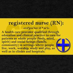 RN. Yep care for patients as a whole. Body, mind and soul.