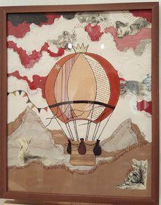 """""""Ballonfahrt"""", 40 x 50 cm"""