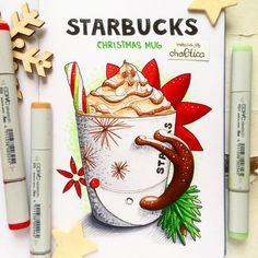 «New theme of the challenges- Christmas souvenirs and presents. В #старбакс завезли новогодние кружки, и я снова не удержалась :) ☕️ Новая тема марафона -…»
