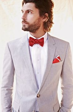 Hooray for summer!  - BOSS black 'hedge/Gense' Trim fit #seersucker Suit #Menswear