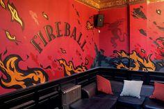 Branding for Fireball Whiskey in North London.