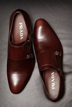 Prada | monk-strap not into men shoes but I can see these on a very well-dressed sexy man, oh my | Raddest Men's Fashion Looks On The Internet: http://www.raddestlooks.org