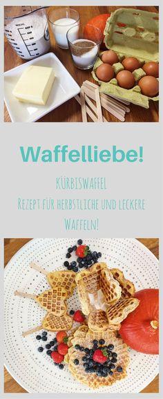 Waffelliebe! Habt ihr schon mal ein Rezept für herbstliche Kürbiswaffeln ausprobiert? So lecker und einfach, dass man gar nicht genug davon bekommt! Waffeln mal anders! #herbstrezept #waffel #kürbisrezept #lecker #einfach #rezept #familienessen #herbstzeit #essen #nachtisch #süßspeise #kürbis #herzwaffel #partyfood #buffet #gäste