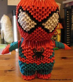 3d origami spider man - Google Search #OrigamiLife