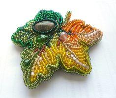 Кленовый листок | biser.info - всё о бисере и бисерном творчестве