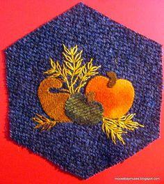 Stitching Society Hexagons harvest