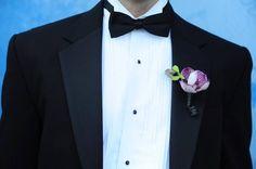 miami wedding orchid boutonnière