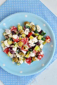 Pasta Salad, Cobb Salad, Feta, Potato Salad, Bacon, Potatoes, Ethnic Recipes, Crab Pasta Salad, Potato