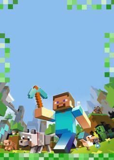 Anniversaire Minecraft – Creepers, pixels et TNT – Guide du Parent Galactique Holiday Party Invitation Template, Art Party Invitations, Invitation Card Birthday, Invitation Cards, Mine Craft Party, Minecraft Birthday Card, Creepers, Minecraft Birthday Invitations, Minecraft Images