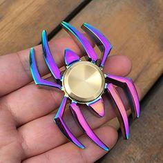 Colorful Rainbow Spider EDC Fidget Spinner Metal Finger Spinner