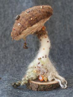 Fee Giftpilz Nadel Filz Pilz wolle von FeltBuddiesAndYarns auf Etsy
