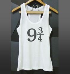 9 3/4 Harry Potter tank top slogan XS S M L XL White tank/Grey dress/Grey tshirt #unbranded #TankCami #Casual
