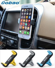 Cobao universal mobile phone holder stand car air vent mount holder for Iphone 5 5s 6 6s plus Galaxy S5 S6 S7 xiaomi Huawei