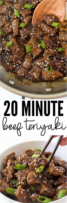 Easy 20 Minute Beef Teriyaki. Tender, juicy and smothered with a homemade teriyaki sauce. So much better than takeout!