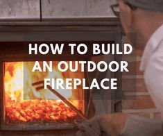 How to Build an Outdoor Fireplace: An outdoor fireplace is an ideal way to add value to your home while creating a gorgeous outdoor area to enjoy with family and friends. Most people enlist Build Outdoor Fireplace, Outdoor Fireplace Designs, Backyard Fireplace, Fire Pit Backyard, Outdoor Fireplaces, Fireplace Ideas, Outdoor Kitchen Patio, Outdoor Rooms, Outdoor Patios