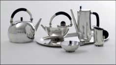 Marianne Brandt. Brandt's designs for metal ashtrays, tea and coffee services, lamps and other household objects are now recognized as among the best of the Weimar and Dessau Bauhaus. Further, they were among the few Bauhaus designs to be mass-produced during the interwar period.  After leaving the Bauhaus for Berlin in 1929, became  the head of metal design at the Ruppel firm in Gotha.