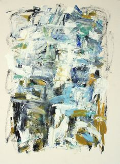 Julie Schumer South Beach II 30 X 22 mixed media on paper
