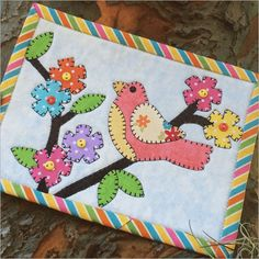 Birdies Delight Mug Rug – Quilting Books Patterns and Notions