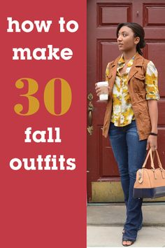 How To Create 30 Fall Outfits: Shop, Style and Mix-and-Match Your Fall Wardrobe Fall Winter Outfits, Autumn Winter Fashion, Casual Outfits, Cute Outfits, Fall Capsule Wardrobe, Look Fashion, Fashion Tips, Swagg, Sport