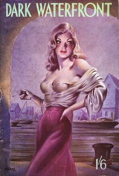DARK WATERFRONT by Michael Hervey, published by Hamilton & Co., artwork by Reginald Heade.
