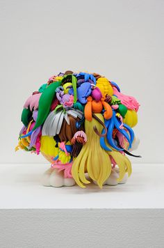 Art: Figurine hair assemblages by Teppei Kaneuji.