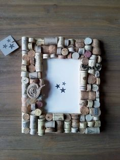 Items similar to Cork Photo Frame on Etsy Hobbies To Take Up, Hobbies For Kids, Hobbies That Make Money, Wine Cork Art, Wine Cork Crafts, Wine Art, Wine Corks, Finding A Hobby, Ideas Prácticas