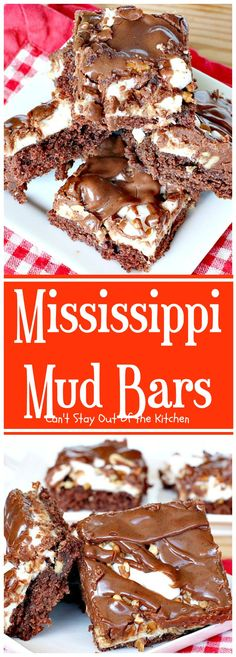 Mississippi Mud Bars | Can't Stay Out of the Kitchen | these PaulaDeen brownies are so addictive!