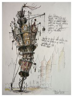 An entry from The Propaedeuticist archisketchbook - architecture-sketchbook, a pool of architecture drawings, models and ideas - propaedeuticist: fantasy towers on & of paper -.<br> fantasy towers on & of paper - Architecture Drawing Plan, Architecture Drawing Art, Architecture Drawing Sketchbooks, Drawing Architecture, Architecture Mode, Computer Architecture, Art Sketches, Art Drawings, Unique Drawings