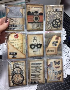 I was in a Pocket Letter swap and the theme was a Tim Holtz style. I had some fun with some die cuts I had never used before….nice to finally crank them in m...