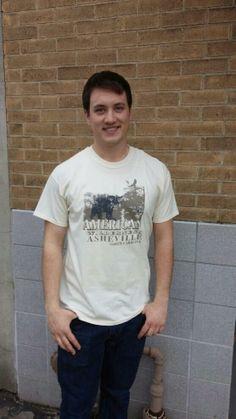 Men's T-shirt tan beige sand - Short sleeve - spring style fashion @ Black Bear Trading Asheville N.C.