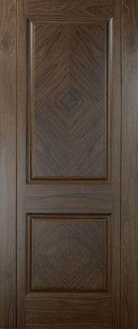 Traditional Doors - Walnut 2-panel Book-Matched Veneer Door traditional-interior-doors