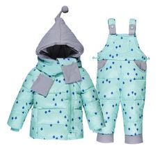 (44.99$) Buy here - http://aig53.worlditems.win/all/product.php?id=32746014609 - baby coats girls boys winter White dock Down parkas Chidren 2 piece Kids Clothing Sets Hooded Coat Suits Print dot Coat jacket
