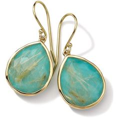Ippolita 18k Gold Rock Candy Teardrop Lollipop Earrings