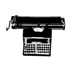 NCC X Gestalten: Typewriter Screenprint Simple Illustration, Silk Screen Printing, Designer Toys, Urban Landscape, Centre, Graphic Design, Art Prints, Artwork, Painting