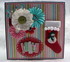 TPHH Sharon Handmade Chipboard MME Christmas Keepsake Scrapbook Photo Album #MyMindsEye