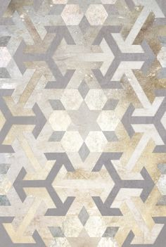 """Moroccan Collection; Nancy Straughan Flooring""  Would love this on my walls even more than floor.  Build a frame, nail on some thin plywood.  Spray paint in a metallic silver or bronze, then tape off, and spray paint again with another metallic.  Repeat until satisfied with results."