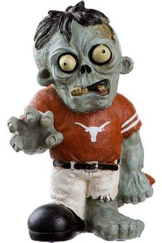 During #Halloween, the lawn gnomes even become weird. Add this #Longhorns zombie to your garden, porch or even end table to get into the Halloween spirit. #HookEm
