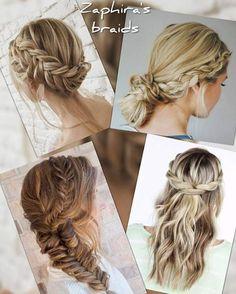 Zaphira Νυφικό Χτένισμα www.gamosorganosi.gr Braids, Hair Styles, Fashion, Haircut Parts, Bang Braids, Hair Plait Styles, Moda, Cornrows, Fashion Styles