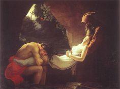 """Anne-Louis Girodet de Roussy-Trioson - Atala au tombeau (dit aussi """"Funérailles d'Atala"""") - 1808"""