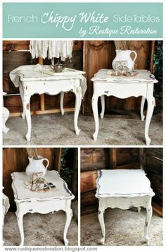 Rustique Restoration: French Chippy White Side Tables