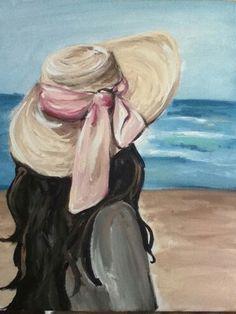 Acrylic Painting Ideas On Canvas Simple Canvas Paintings, Small Canvas Art, Easy Canvas Painting, Diy Canvas Art, Painting & Drawing, Canvas Painting Designs, Canvas Ideas, Tableau Pop Art, Oil Pastel Art