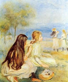 Young Girls By The Sea