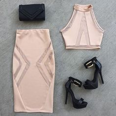 Beautiful Fashion Pairing for a night out on the town. Look Fashion, Fashion Outfits, Womens Fashion, Fashion Trends, Fashion Styles, Mode Club, Girls Night Out, Classy Outfits, Sexy Bikini