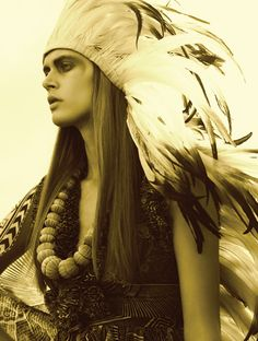 Cool feather head dress