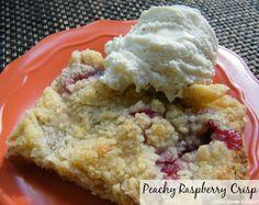 Peachy Raspberry Crisp