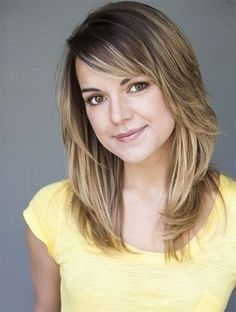 Medium Layered Haircut for Thick Hair - Round Faces Hairstyle Ideas