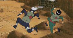 *look up at sky and see Kakashi and Gai there* They're FLYING! I wish i could fly as Kakashi and Gai do. Kakashi and Gai are FLYING! Naruto Gif, Naruto Kakashi, Tenten Y Neji, Manga Naruto, Naruto Shippuden Anime, Gaara, Boruto, Manga Anime, Guy Sensei