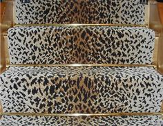 animal print stair runner