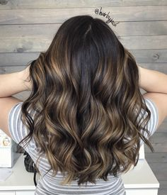 Brunette, Balayage, Long hair, curled hair, sunkissed hair