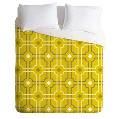 Caroline Okun Golden Lattice Duvet Cover | DENY Designs Home Accessories